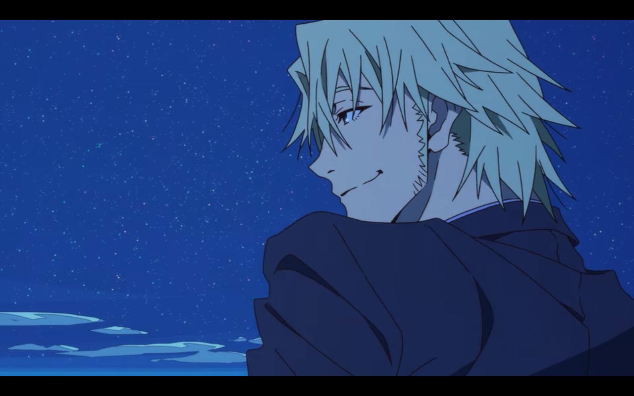 Laurent looking at Makoto lovingly.